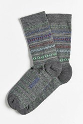 Woolrich Merino Novelty Crew Sock Grey