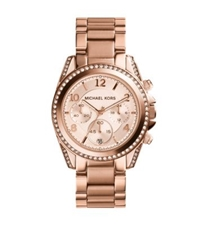 Michael Kors Blair Rose Gold Tone Chronograph Watch