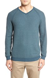 Tommy Bahama Men's 'Make Mine A Double' Reversible Pima Cotton V Neck Sweater Seaway