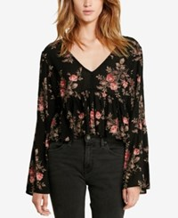Denim And Supply Ralph Lauren Floral Print Bell Sleeve Shirt Floral Multi