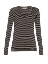 Max Mara Otello Top Black White