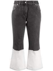 J.W.Anderson Jw Anderson Bleached Hem Flared Jeans Grey