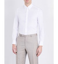 Boglioli Single Cuff Cotton Oxford Shirt White