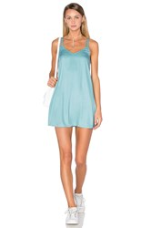 Rvca Sims Dress Turquoise