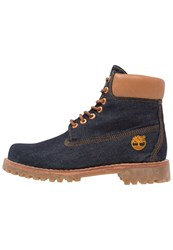 Timberland Heritage 6 Inch Laceup Boots Raw White Oak Denim Blue Denim