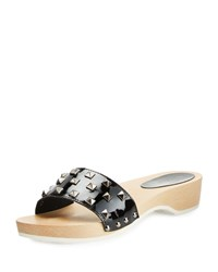 Sesto Meucci Stephy Studded Patent Clog Black