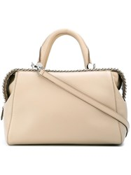 Max Mara Chain Trim Cross Body Bag Nude Neutrals
