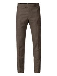 Limehaus Cowley Oatmeal Jaspe Skinny Fit Trousers Oatmeal