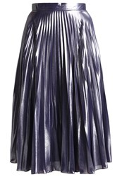 Warehouse Pleated Skirt Silver