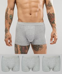New Look Trunks In Grey 3 Pack Mid Grey