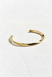 Urban Outfitters Twisted Wrist Cuff Gold