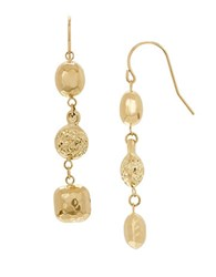 Lord And Taylor 14K Yellow Gold Oval Bead Dangle Earrings