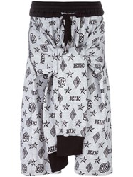 Ktz Monogram Tied Up Shorts White