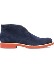 Tod's Rubber Sole Desert Boots Blue