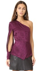 Yigal Azrouel One Shoulder Top Wine