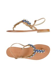 P.A.R.O.S.H. Footwear Thong Sandals Women Beige