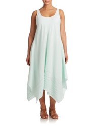 Eileen Fisher Plus Size Linen Tea Length Dress Arora