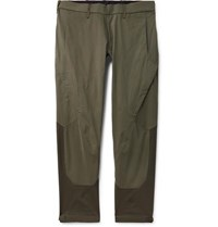 Arcteryx Veilance Arc'teryx Apparat Slim Fit Cotton And Nylon Blend Trousers Army Green