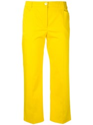 Blugirl Cropped Trousers Women Cotton Spandex Elastane 40 Yellow Orange