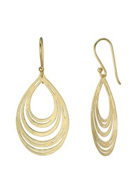 Lord And Taylor 18Kt Gold Mesh Teardrop Earrings