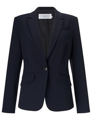 John Lewis Hepburn Button Crepe Jacket Navy