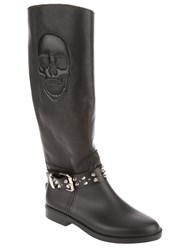 Philipp Plein Studded Skull Boot Black