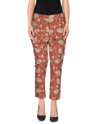 Gold Case Trousers 3 4 Length Trousers Women Brick Red