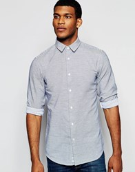 United Colors Of Benetton Casual Shirt With Thin Stripe Blue
