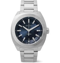 Gucci Gg2570 41Mm Stainless Steel Watch Blue