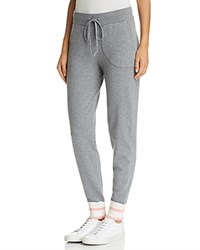 Equipment Elsie Striped Trim Jogger Pants Heather Gray Multi