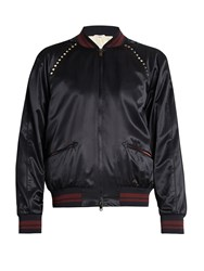 Valentino Rockstud Untitled 14 Bomber Jacket Navy