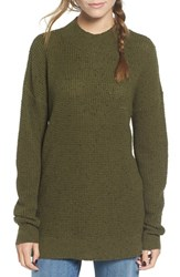 Women's Bp. Knit High Low Tunic Olive Burnt