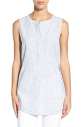 Women's Lucky Brand Textured Cotton Sleeveless Shirt