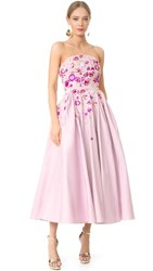 Marchesa Notte Strapless Gown Lilac