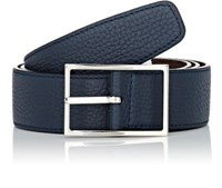 Simonnot Godard Men's Reversible Leather Belt Blue