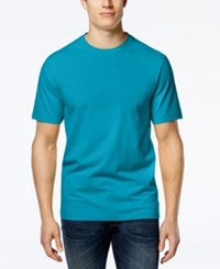 Club Room Men's Big And Tall Solid Crew Neck T Shirt Only At Macy's Boardwalk Blue