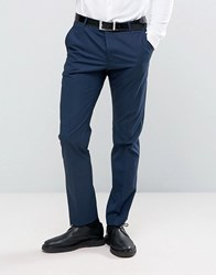 Selected Homme Slim Suit Trouser In Tonal Check Navy Blue