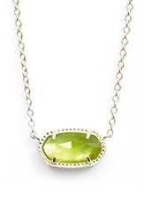 Kendra Scott Women's 'Elisa' Pendant Necklace Peridot