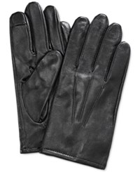 Club Room Gloves Leather Touchscreen Black