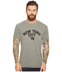 The Original Retro Brand New York City 1978 Vintage Tri Blend T Shirt Streaky Grey Men's T Shirt Pewter