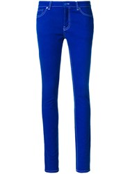 Givenchy Star Detail Skinny Jeans Blue