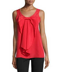 Neiman Marcus Bow Front Scoop Neck Tank Red