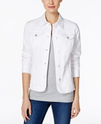 Charter Club Petite Denim Jacket Only At Macy's Bright White
