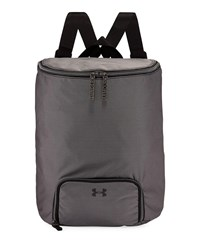 Under Armour Midi Zip Top Water Resistant Backpack Black White