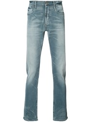 Denham Jeans Faded Effect Blue
