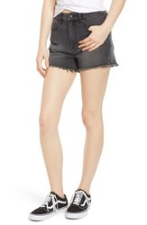 Vigoss Jagger High Waist Denim Shorts Washed Black