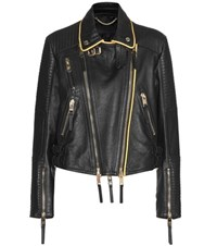 Burberry Leather Biker Jacket Black