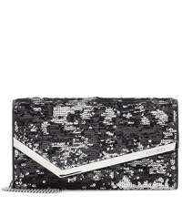 Jimmy Choo Emmie Sequinned Clutch Black