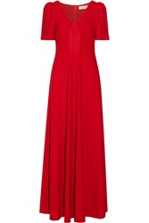 Goat Rosa Wool Crepe Gown Red