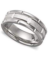 Triton Men's White Tungsten Carbide Ring Matrix Band